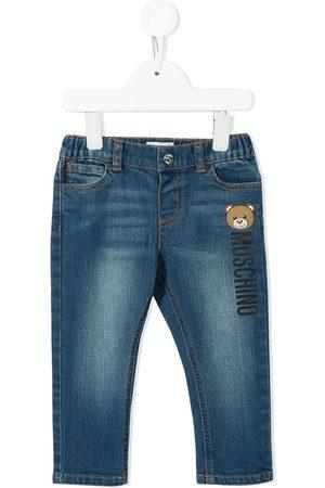 Moschino Skinny - Teddy Bear-print skinny jeans