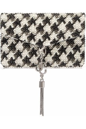 Jimmy Choo Women Purses - Soft houndstooth leather cardholder