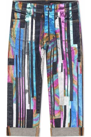 Dolce & Gabbana Girls Straight - Painted straight leg jeans