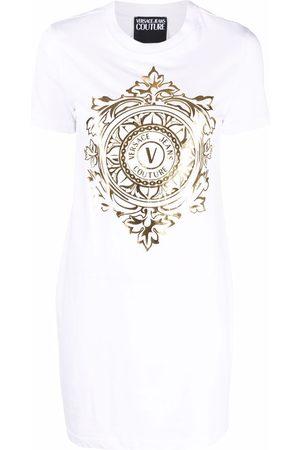 VERSACE Women Printed Dresses - Logo-print T-shirt dress