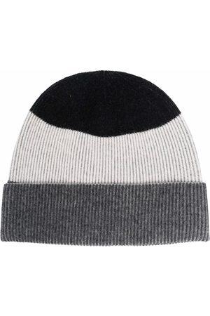Z Zegna Men Beanies - Colour-block knitted beanie - Grey