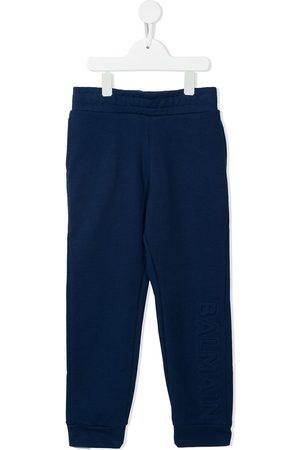 Balmain Boys Sports Pants - Logo-lettering trackpants