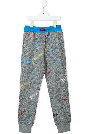 The Marc Jacobs Girls Sweatpants - Logo-print track pants - Grey