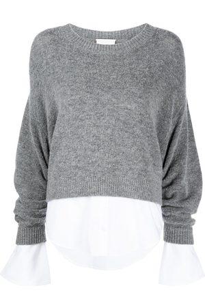 Cinq A Sept Women Tops - Layered shirt jumper - Grey