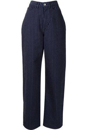 YMC Men Straight - Papa striped straight-leg jeans