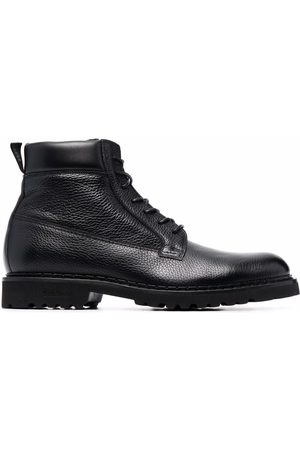 BALDININI Men Lace-up Boots - Lace-up leather booties