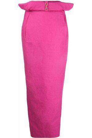 Jacquemus Women Maxi Skirts - Bow-detail maxi skirt