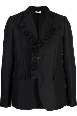 Comme des Garçons Blazers - Frill-trim single-breasted blazer
