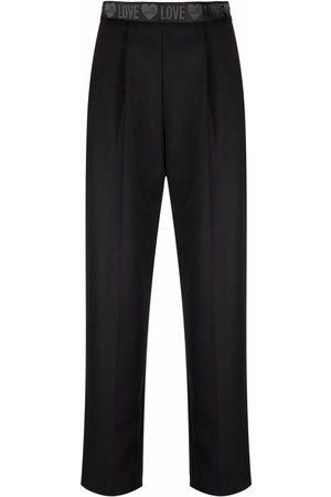 Love Moschino Women Pants - Logo waistband cropped trousers