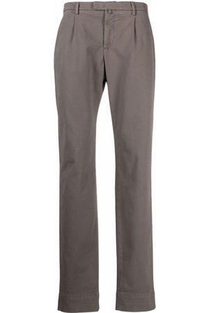 BRIGLIA Men Chinos - Mid-rise straight-leg chinos - Grey