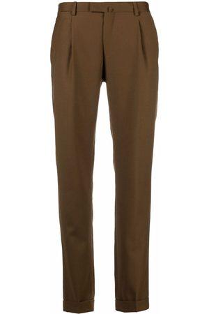 BRIGLIA Men Straight Leg Pants - Mid-rise straight-leg trousers