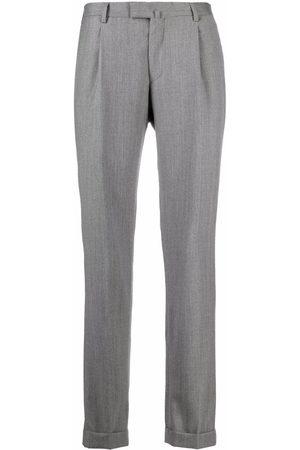 BRIGLIA Mid-rise straight-leg trousers - Grey