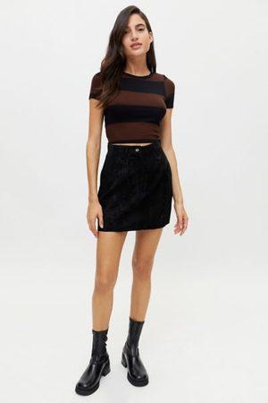 Urban Vintage Suede Mini Skirt