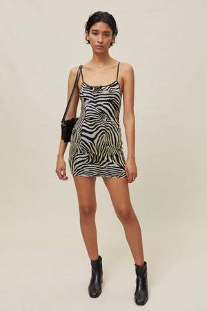 Urban Women Casual Dresses - Remnants Slinky Mesh Animal