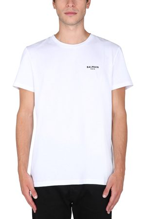 Balmain T-shirt with flocked logo