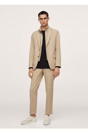 MANGO Slim fit technical packable suit blazer