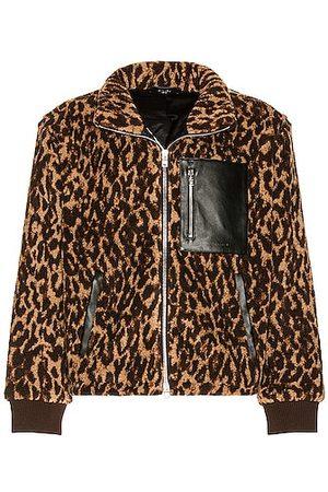 AMIRI Printed Leopard Polar Fleece Jacket in
