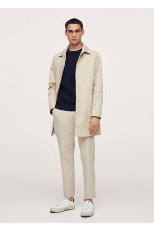 MANGO Technical fabric slim cropped pants