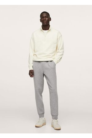 MANGO Plush-cotton jogger pants