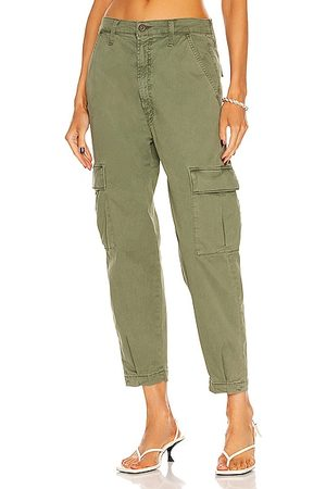 Mother The Catch All Cargo Ankle Pant in Olive