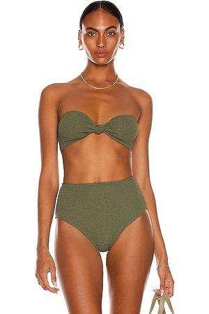 Bond Eye Sahara Eco Bandeau Bikini Top in Olive