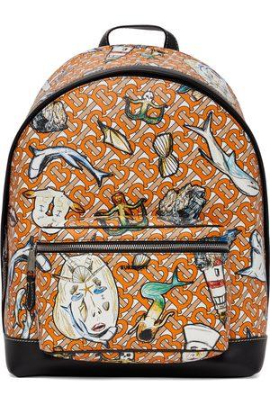 Burberry E-Canvas TB Monogram Jett Backpack