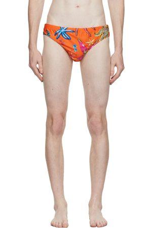 VERSACE Orange Trésor De La Mer Swim Briefs