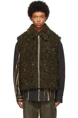 Feng Chen Wang Khaki Faux-Fur Vest