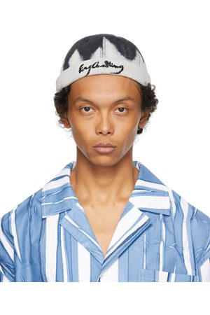 Feng Chen Wang Off-White & Black Tie-Dye Pattern Cap