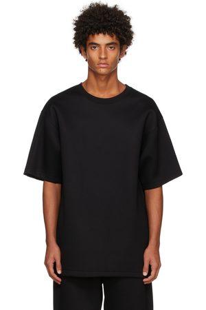 Helmut Lang Black Neoprene Logo T-Shirt