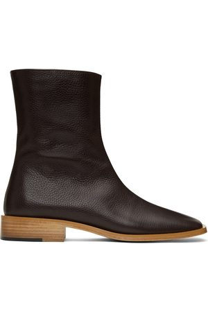 Situationist Leather Zip-Up Boots