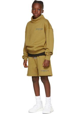 Essentials Sweatshirts - Kids Green Mock Neck Sweatshirt