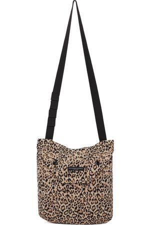 Engineered Garments Black & Beige Leopard Messenger Bag