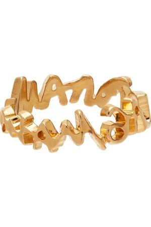 MM6 Maison Margiela Gold Signature Logo Ring