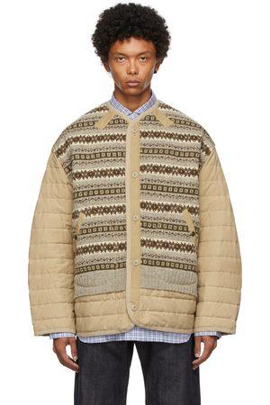 Junya Watanabe Beige Knit Liner Jacket