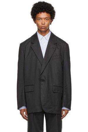 Junya Watanabe Grey Wool Pinstripe Blazer