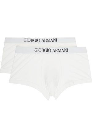 Giorgio Armani Two-Pack White Logo Boxers