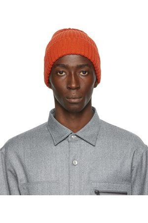 Z Zegna Orange Wool Beanie