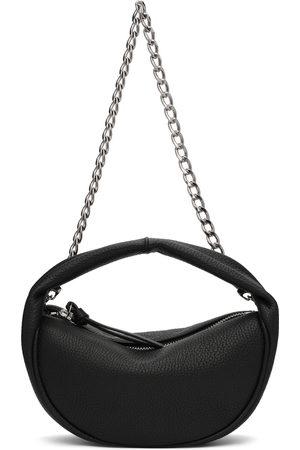 BY FAR Black Flat Grain Baby Cush Bag