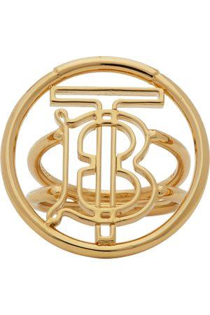 Burberry Gold Large Monogram Motif Ring