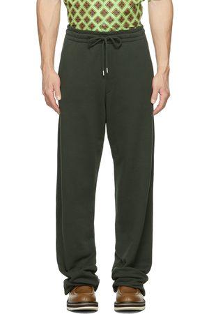 Dries Van Noten Green French Terry Wide-Leg Lounge Pants