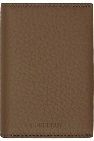 Burberry Brown Leather Card Holder