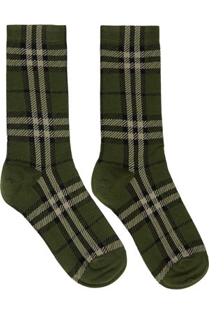 Burberry Green Check Jacquard Socks