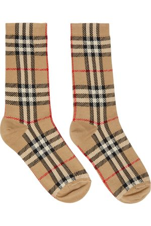 Burberry Intarsia Check Mid Socks