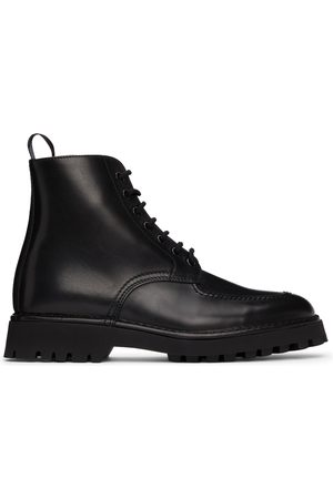 Kenzo Black K-Mount Lace-Up Boots