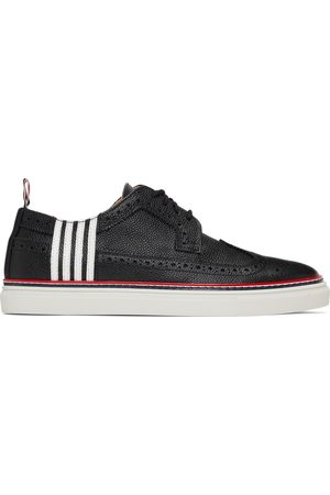 Thom Browne Black Contrast Cupsole 4-Bar Longwing Brogues