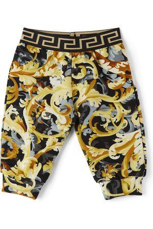 VERSACE Baby Black & Gold Baroccoflage Lounge Pants