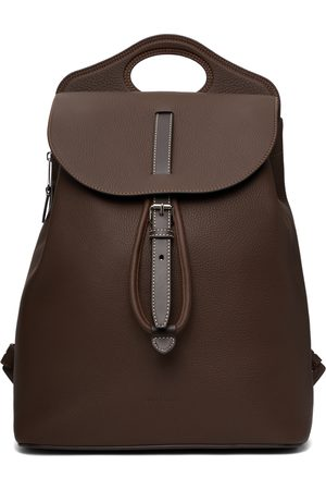Burberry Brown Leather Pocket Backpack