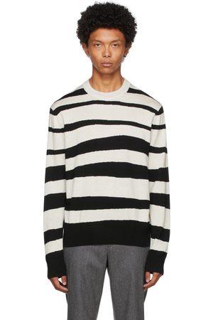 Paul Smith Black & Off-White Zebra Stripe Sweater