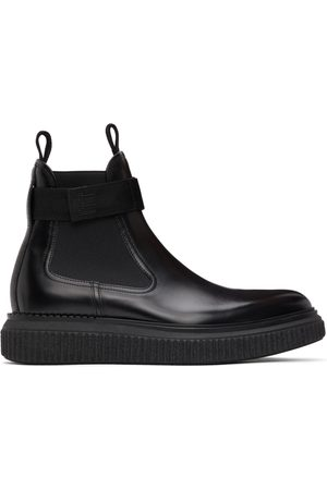 Dunhill Black Strap Creeper Chelsea Boots